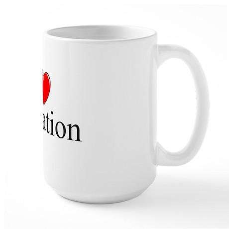 """I Love Castration"" Large Mug"