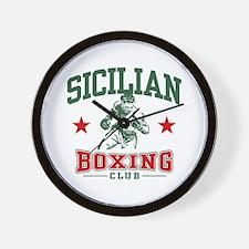 Sicilian Boxing Wall Clock