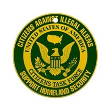Citizens Against Illegal Aliens Ornament (Round)