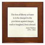 James Madison 3 Framed Tile