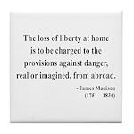 James Madison 3 Tile Coaster