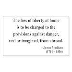 James Madison 3 Rectangle Sticker