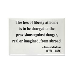 James Madison 3 Rectangle Magnet