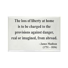 James Madison 3 Rectangle Magnet (10 pack)