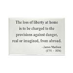 James Madison 3 Rectangle Magnet (100 pack)