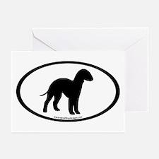 Bedlington Terrier Oval Greeting Cards (Pk of 20)