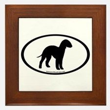 Bedlington Terrier Oval Framed Tile