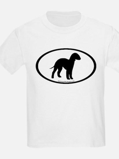 Bedlington Terrier Oval T-Shirt