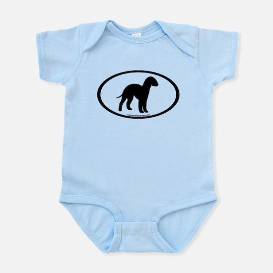 Bedlington Terrier Oval Infant Bodysuit