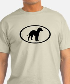 Bedlington Terrier Oval T-Shirt