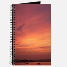 Ferry Beach Burning Sunset Journal