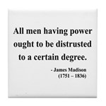 James Madison 1 Tile Coaster