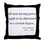 James Madison 1 Throw Pillow