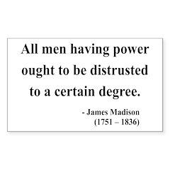 James Madison 1 Rectangle Decal