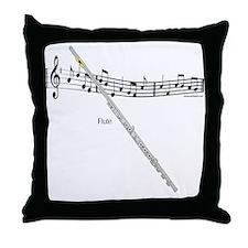 Flute Music Throw Pillow