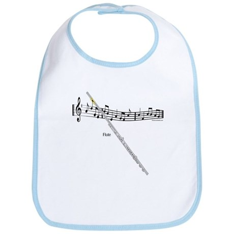 Flute Music Bib