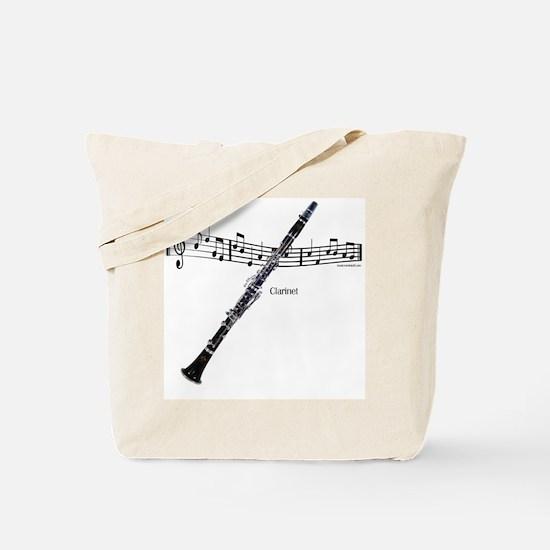 Clarinet Music Tote Bag