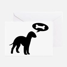 Bedlington Terrier Treat Greeting Cards (Pk of 20)
