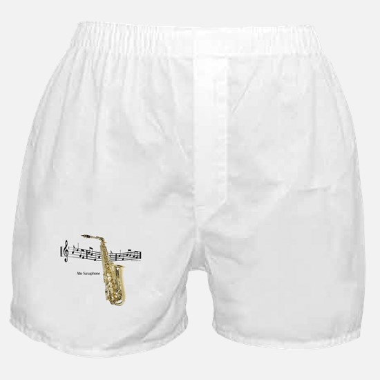 Alto Sax Music Boxer Shorts