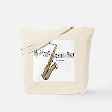 Saxaphone Music Tote Bag