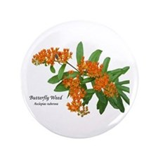 """Butterfly Weed 3.5"""" Button"""