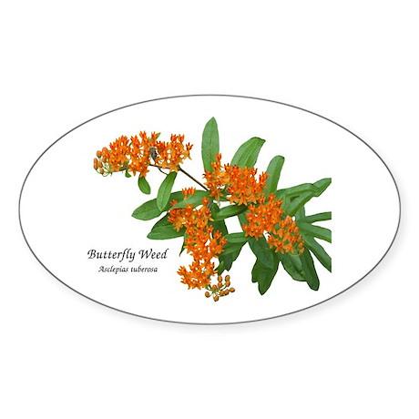Butterfly Weed Oval Sticker