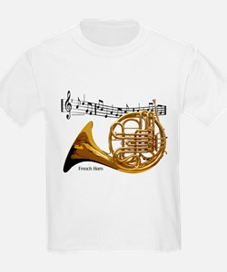 French Horn Music T-Shirt