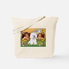 Angels & Bichon Frise Tote Bag