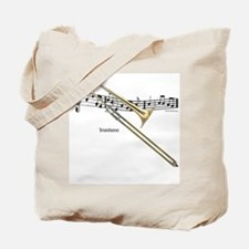 Trombone Music Tote Bag