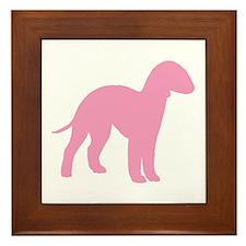 Pink Bedlington Framed Tile