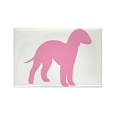 Pink Bedlington Rectangle Magnet