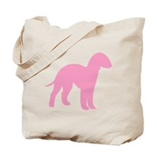 Pink Bedlington Tote Bag