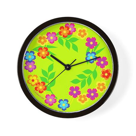 Hawaiian Lei /Hibiscus Flower- Wall Clock