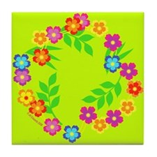 Hibiscus Flower Lei- Tile Coaster