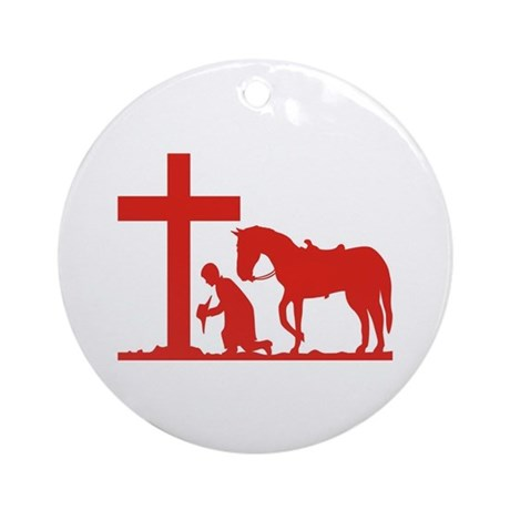 COWBOY PRAYER Keepsake (Round)