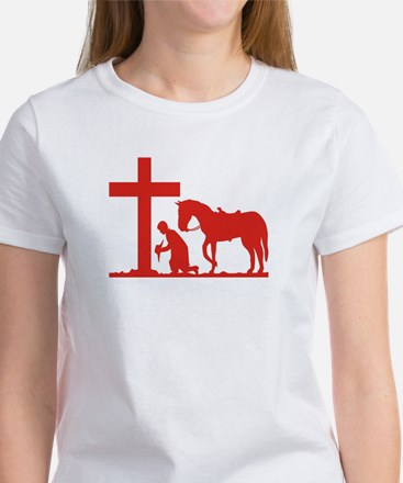 COWBOY PRAYER Women's T-Shirt