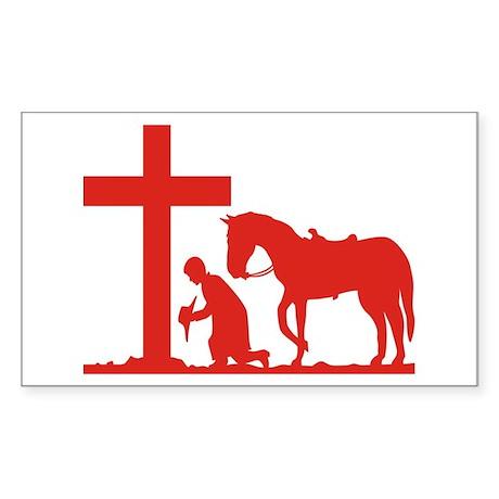 COWBOY PRAYER Rectangle Sticker