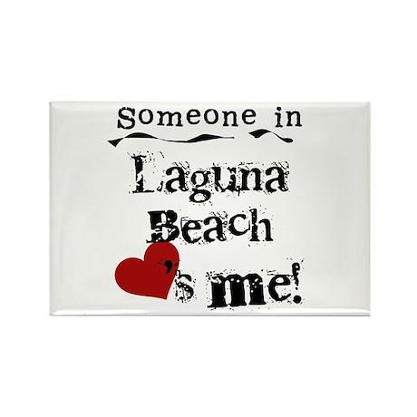 Laguna Beach Loves Me Rectangle Magnet