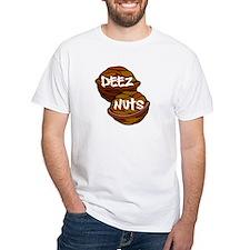 deez nuts white tshirt