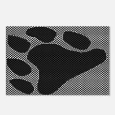 BEAR PAW/BLACK ON TEXTURE Postcards (Package of 8)