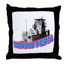 The Mary Fern tugboat Throw Pillow
