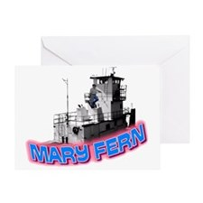 The Mary Fern tugboat Greeting Card