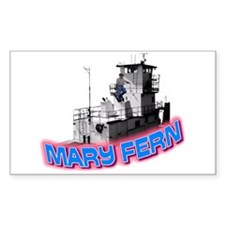 The Mary Fern tugboat Rectangle Decal