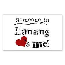 Lansing Loves Me Rectangle Decal