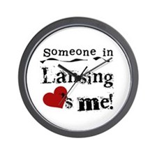 Lansing Loves Me Wall Clock