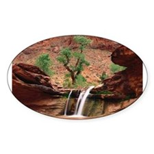 Coyote Gulch Waterfall Oval Decal