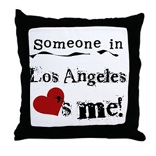 Los Angeles Loves Me Throw Pillow