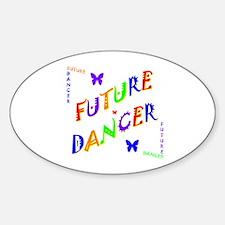 Future Dancer Kids Oval Decal