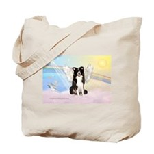 Border Collie Angel Tote Bag