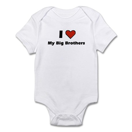 I heart my big Brothers Infant Bodysuit